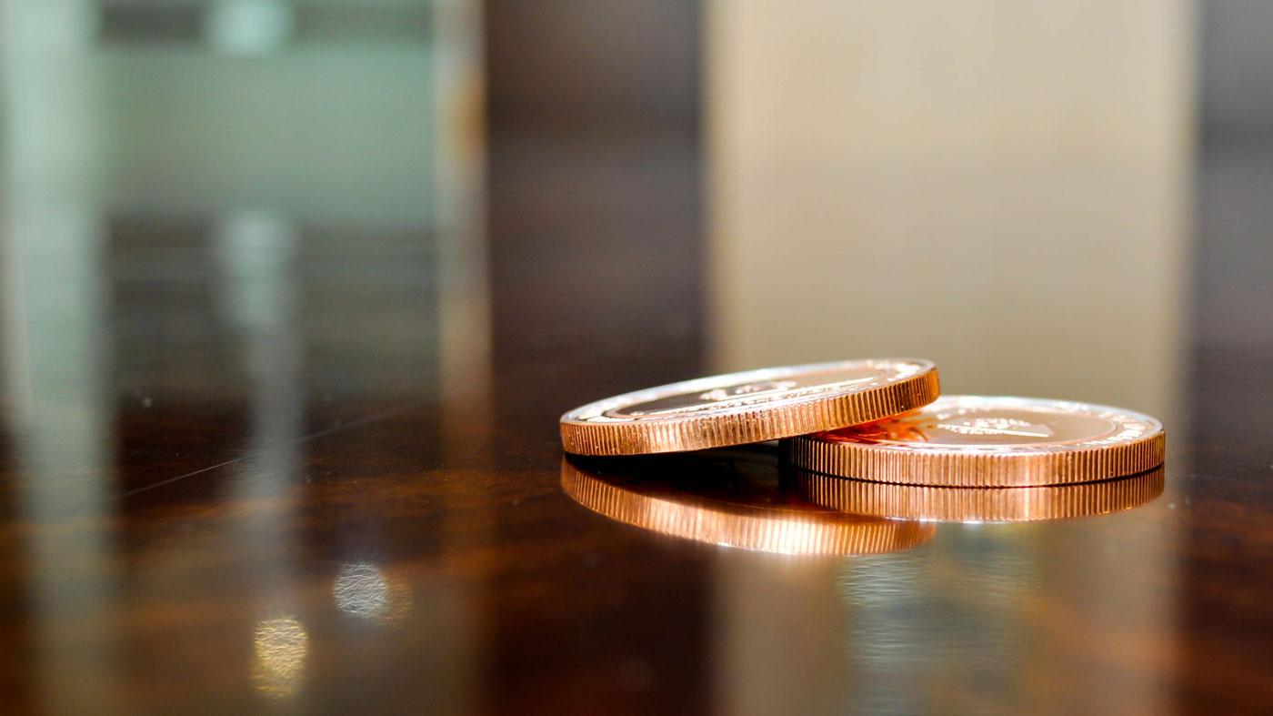 money reflection